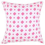 EOLINS Bantal Sofa Motif Bunga Clover [JSPS018] - Pink - Bantal Dekorasi